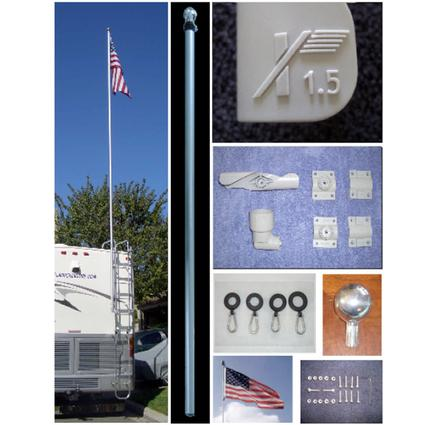 1.5 Flagpole Kit