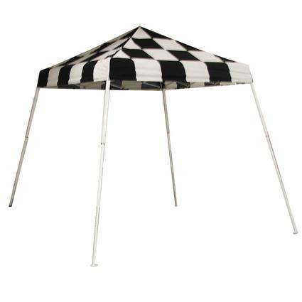 8X8 Sports Series Slant Leg Canopy - Checkered Flag