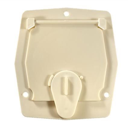 Basic Cable Hatch, Flat Sided, Colonial White