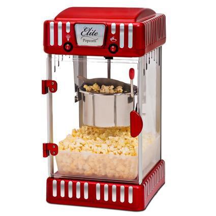Elite Tabletop Retro-Style Kettle Popcorn Popper Machine