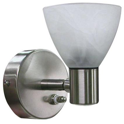 Combination Directional Reading Pin Up Light - Brushed Nickel Finish