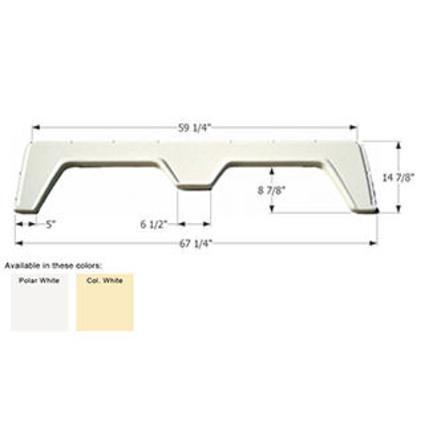 Tandem Fender Skirt FS310A - Polar White