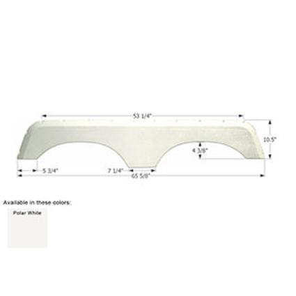 Jayco Tandem Fender Skirt FS700 - Polar White