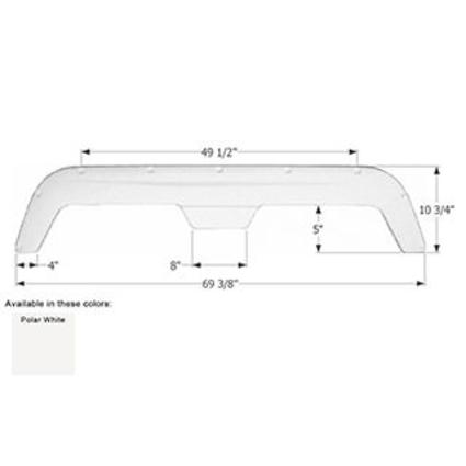 Fleetwood Tandem Fender Skirt FS755 - Polar White