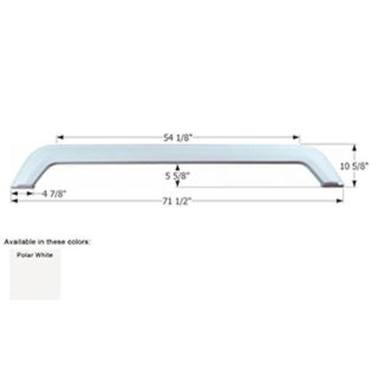 Thor Citation Tandem Fender Skirt FS780 - Polar White