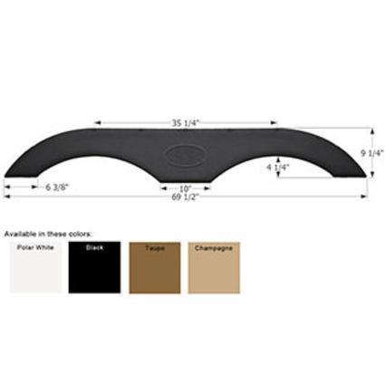 Tandem Fender Skirt FS1770 - Black