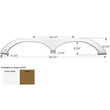 Fleetwood Tandem Fender Skirt FS1811 - Polar White
