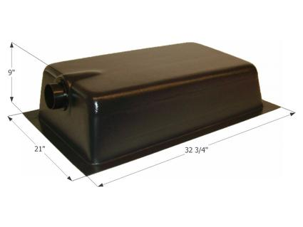 Holding Tank Center End Drain HT620AED - Tank & 3