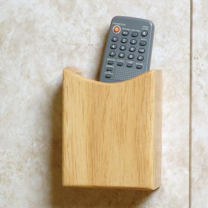 Oak Remote Holder