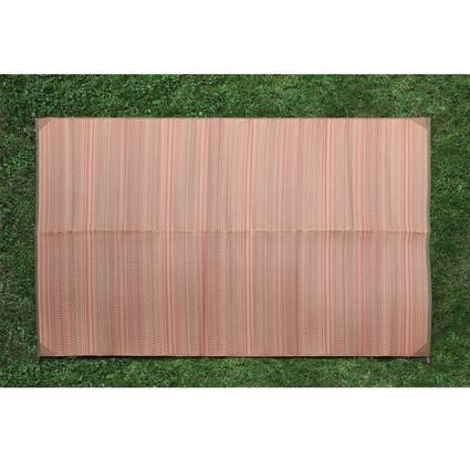 Orange Stripe Patio Mat, 9' x 12'
