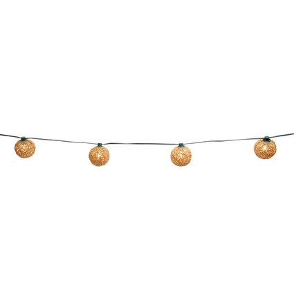 Rattan Globe Lights, 12', 10 C7 Bulbs