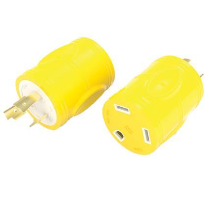 30 Amp RV Female to 20 Amp Twist Lock Male Generator Adapter