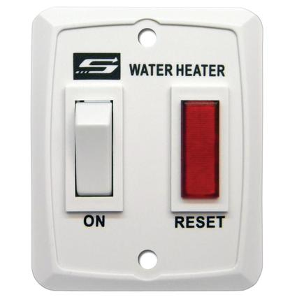 Switch and Light Assembly for Suburban Water Heaters - White