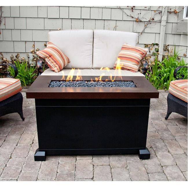 Monterey Propane Fire Pit Patio Table Camp Chef FP Fire Pits - Propane fire pit table with lid
