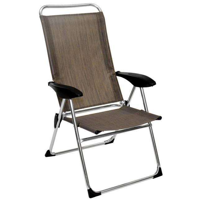 Image Lightweight Adjustable Folding Arm Chair. To Enlarge the image click or press Enter .  sc 1 st  C&ing World & Lightweight Adjustable Folding Arm Chair - Direcsource Ltd A10126 ...