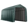 Peak Style Shelter 15 x 44 x 16 Green Cover