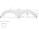 Gulf Stream 5th Wheel Travel Trailer Fender Skirt FS1885 - Polar White