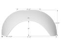 Sunline Single Axle Fender Skirt FS1932 - Polar White