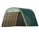 Round Style Shelter 13 x 28 x 10 Green Cover