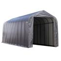 Peak Style Shelter 15 x 44 x 16 Gray Cover