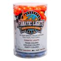 Mini Globe Orange and Medium Blue AC Powered LED Light Strand