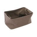 Shallow Storage Tote, Large - Cocoa