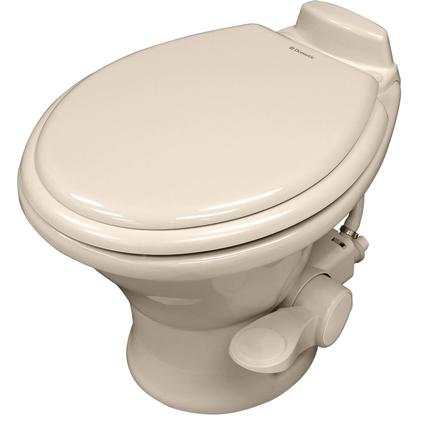 Dometic Low Profile 310 Series Gravity Discharge Toilets - Bone