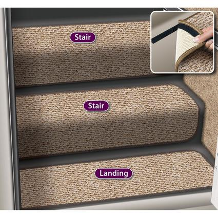Decorian 13.5 Inch Step Huggers for Stairs - Butter Pecan