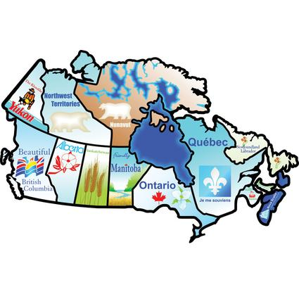 Canadian Provinces Sticker