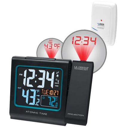 Atomic Alarm Clock with Themometer