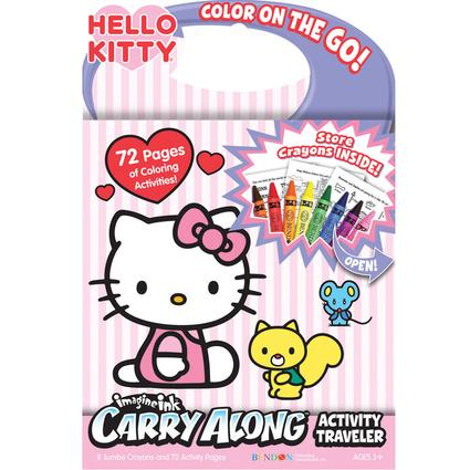 Carry Along Travelers - Hello Kitty with Crayons