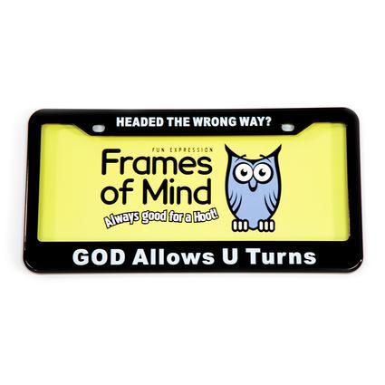 License Plate - God Allows U Turns