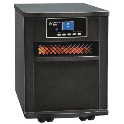 Extra-Large Infrared Cabinet Heater - Black Finish