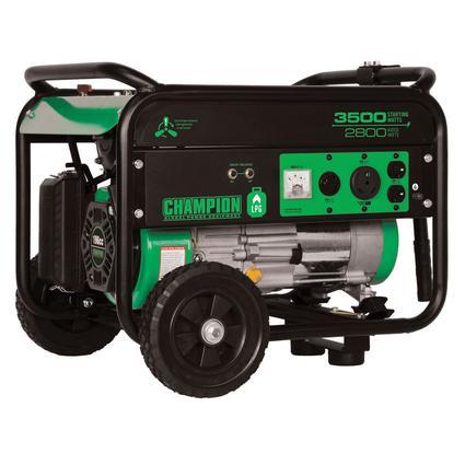 Champion 3500 Watt LP Generator