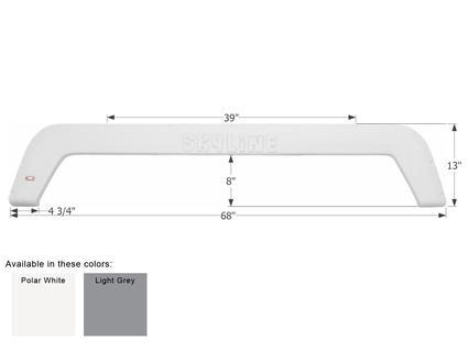 Layton Skyline 5th Wheel Travel Trailer Fender Skirt FS1933 - Polar White