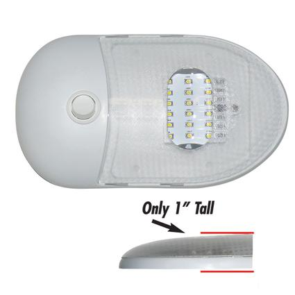 Slim Line LED Dome Lights, Single Dome 5500 Kelvin, Daylight White