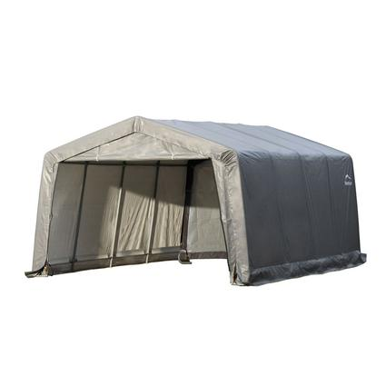 Peak Style Shelter 12 16 8 Gray Cover