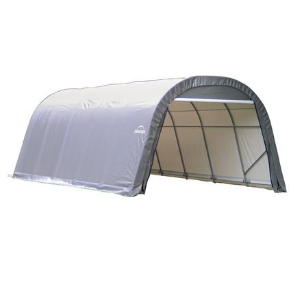 Round Style Shelter 12 x 28 x 8 Gray Cover