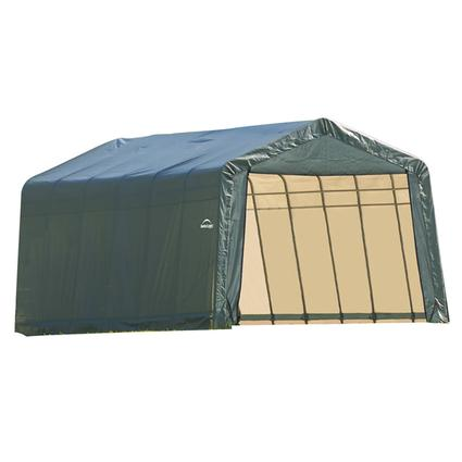 Peak Style Shelter 13 x 28 x 10 Green Cover
