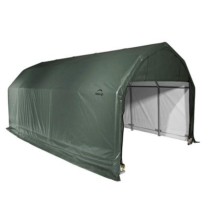Barn Shelter 12 x 20 x 9 Green Cover