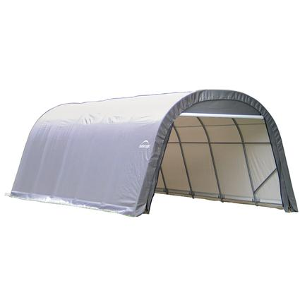 Round Style Shelter 12 x 20 x 8 Gray Cover