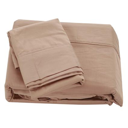 Short Queen 300 Thread Count Sheet Set, Taupe
