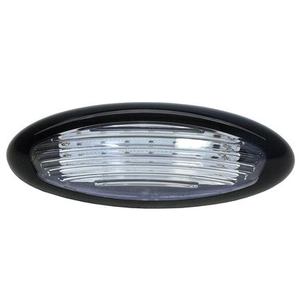 Black LED Exterior Porch Light, Surface Mount