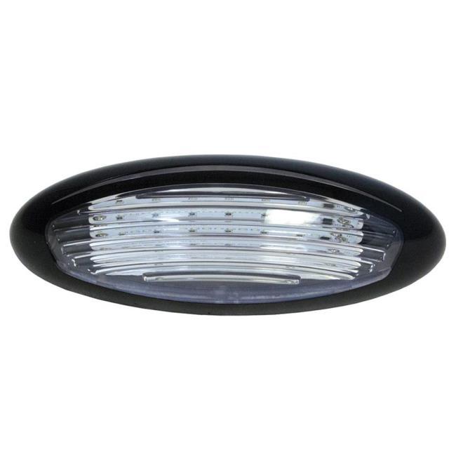 Black LED Exterior Porch Light, Surface Mount - ITC 69767-BK-DB ...