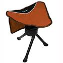 Orange Swivel Stool