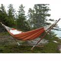 Single Brazilian Barbados Hammock, Orange