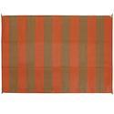 Reversible Patio Mats, Basic Stripe 6' x 9', Terracotta/Brown