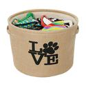 Pawprint Love, Burlap Storage Baskets, Medium