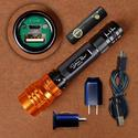 Adjustable Focus Rechargeable USB LED Flashlight