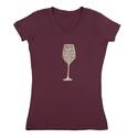 Womens Drink Red Wine Tee, Plum Large